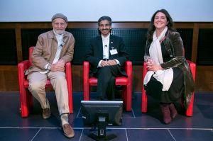 Left to RIght: Peter Sanders, Dr Abdullah Al Kadi, Bettany Hughes